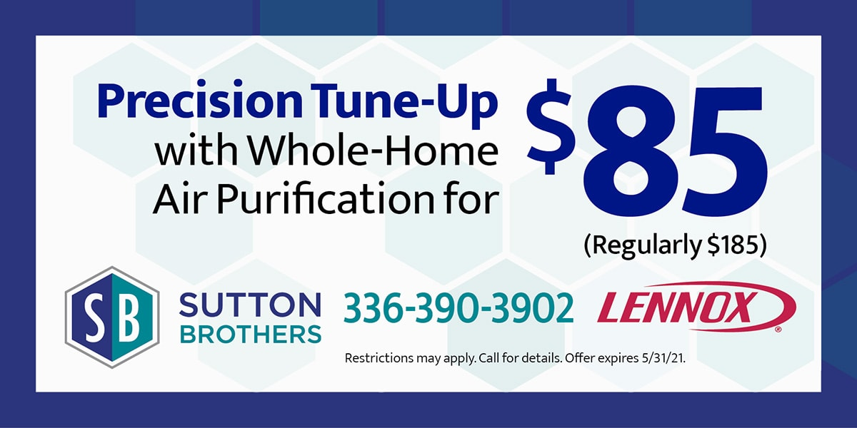 Precision Tune-Up with Whole-Home Air Purification for  (Regularly 5) | Restrictions may apply. Call for details. Offer expires 5/31/21