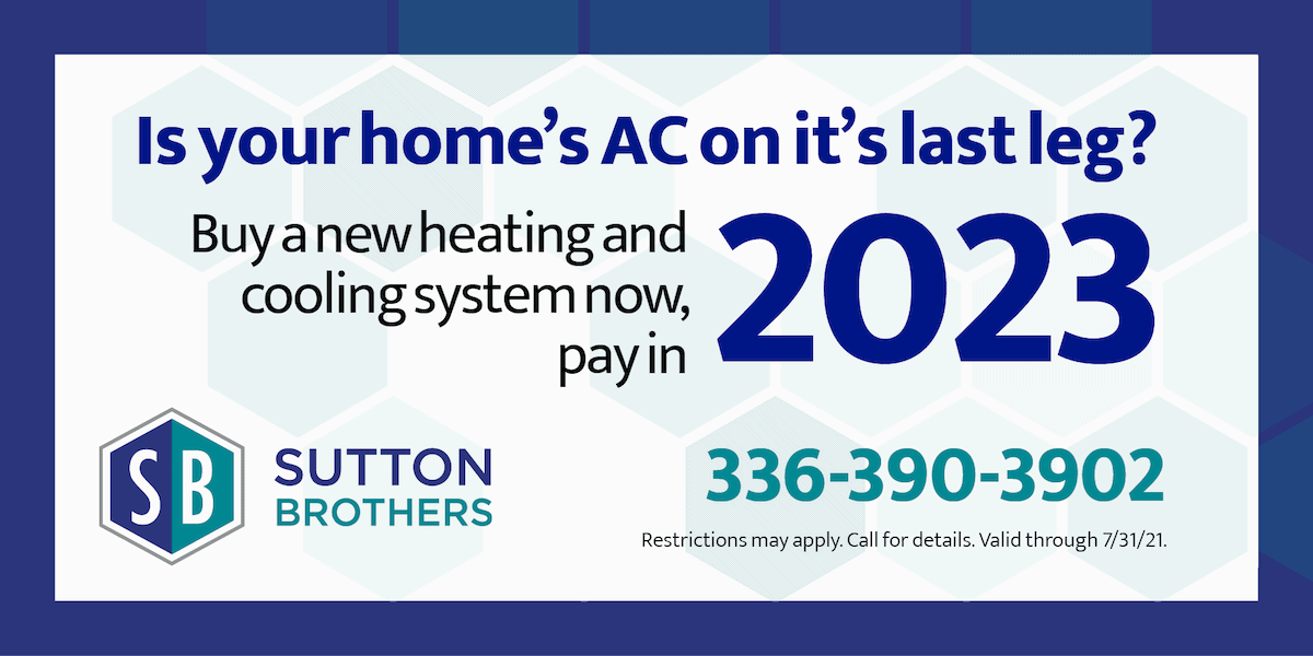 Buy a new heating and cooling system now, pay  