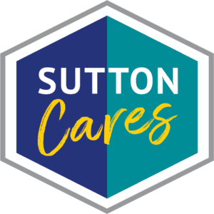 Sutton Cares logo for community support