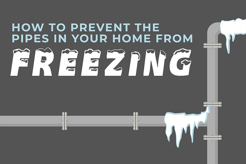 Illustration of frozen pipe, Video - How to Prevent the Pipes in Your Home From Freezing